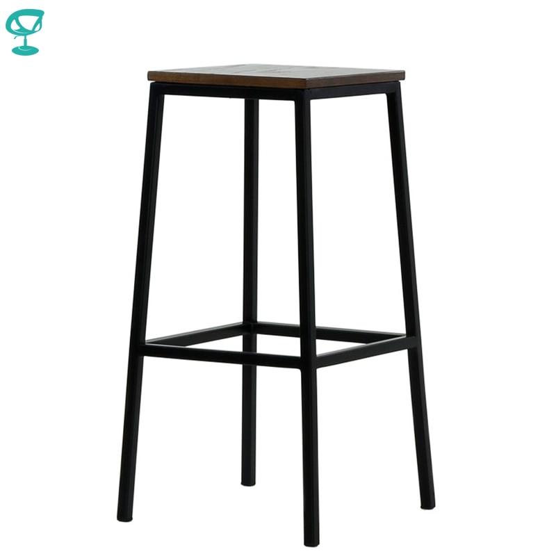 95377 Barneo N-301 High Metal Wood Kitchen Breakfast Interior Stool Bar Chair Kitchen Furniture Black Free Shipping In Russia
