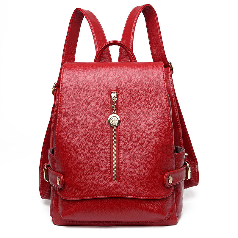 Fashion Women Backpack Leather School Bag Women Casual Preppy Style Student Backpack School Bag for Teenage Girl Female Backpack