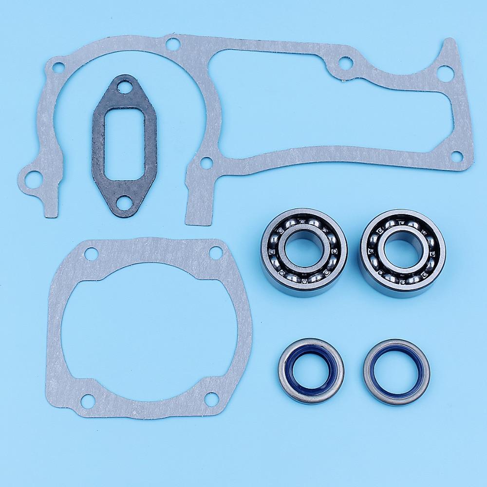 Muffler Cylinder Gasket Crankshaft Oil Seals Fit For Husqvarna 362 365 371 372 372XP Chainsaw 503260301, 505275719, 503250801