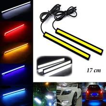 цена на YASTARES NEW 1Pcs 17cm COB DRL LED Daytime Running Light Auto Lamp External Lights For Universal Car 100% Waterproo Car styling