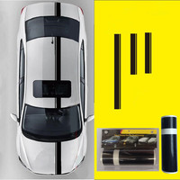 30cm*450cm Car Vinyl Decals Hood Stickers Racing Stripes