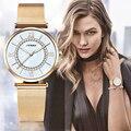 Sinobi 2017 relógios de luxo para as mulheres de design de moda ouro prata relógio de quartzo com diamante pulseira de relógio à prova d' água relojes