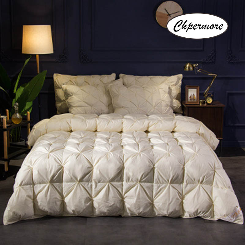Chpermore High Grade 100 % White Goose/Duck Down Quilt Five Star Hotel Comforters Winter Keep Warm Duvets 100% Cotton Cover