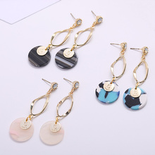 Silver Needle Alloy Ear Studs Design Metallic Gold Geometric Irregular Round Earrings Party Fine Fashion Accessories