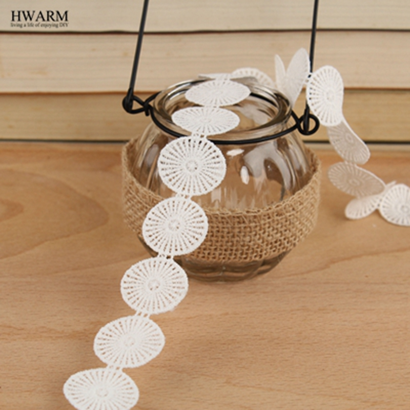 10yard white lace fabric ribbon baby shower edding decoration festival gift trim hollow milk silk water soluble embroidery lace in Lace from Home Garden