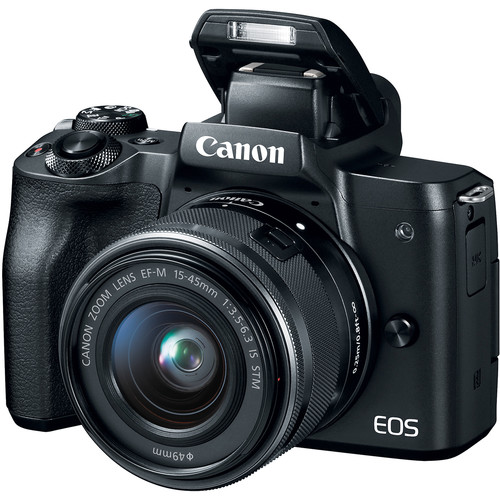 Canon M50 Mirrorless Digital Camera EF M 15 45mm IS STM Lens HD 4K Vari Angle