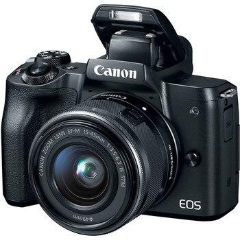 캐논 m50 미러리스 디지털 카메라 EF-M 15-45mm is stm 렌즈, hd 4 k-vari-angle 터치 스크린 wi-fi 디지털 ilc 카메라 (신규)