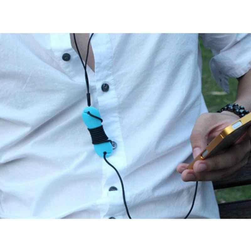 2 шт. Кабельный органайзер для намотки рыбы кость Тип резиновый кабельный держатель для наушников органайзер для наушников держатель провода 7*2,4 см #05