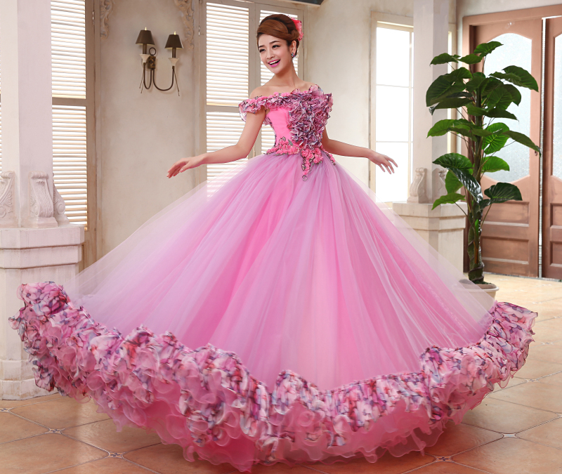 Pink Ball Gown Prom Dresses - Plus Size Tops