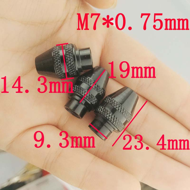 M7x0.75mm Universal Multi Keyless Chuck for Dremel Rotary Tools 0.3-3.2MM Faster Bit Swaps Quick Change Electric Grinder Drill