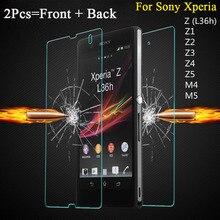 Здесь можно купить   0.27mm 2PCS = Front + Back Screen Protector Premium Tempered Glass Film for Sony Xperia Z L36H Z1 L39H Z2 Z3 Compact Z4 Z5 M4 M5 Mobile Phone Accessories & Parts