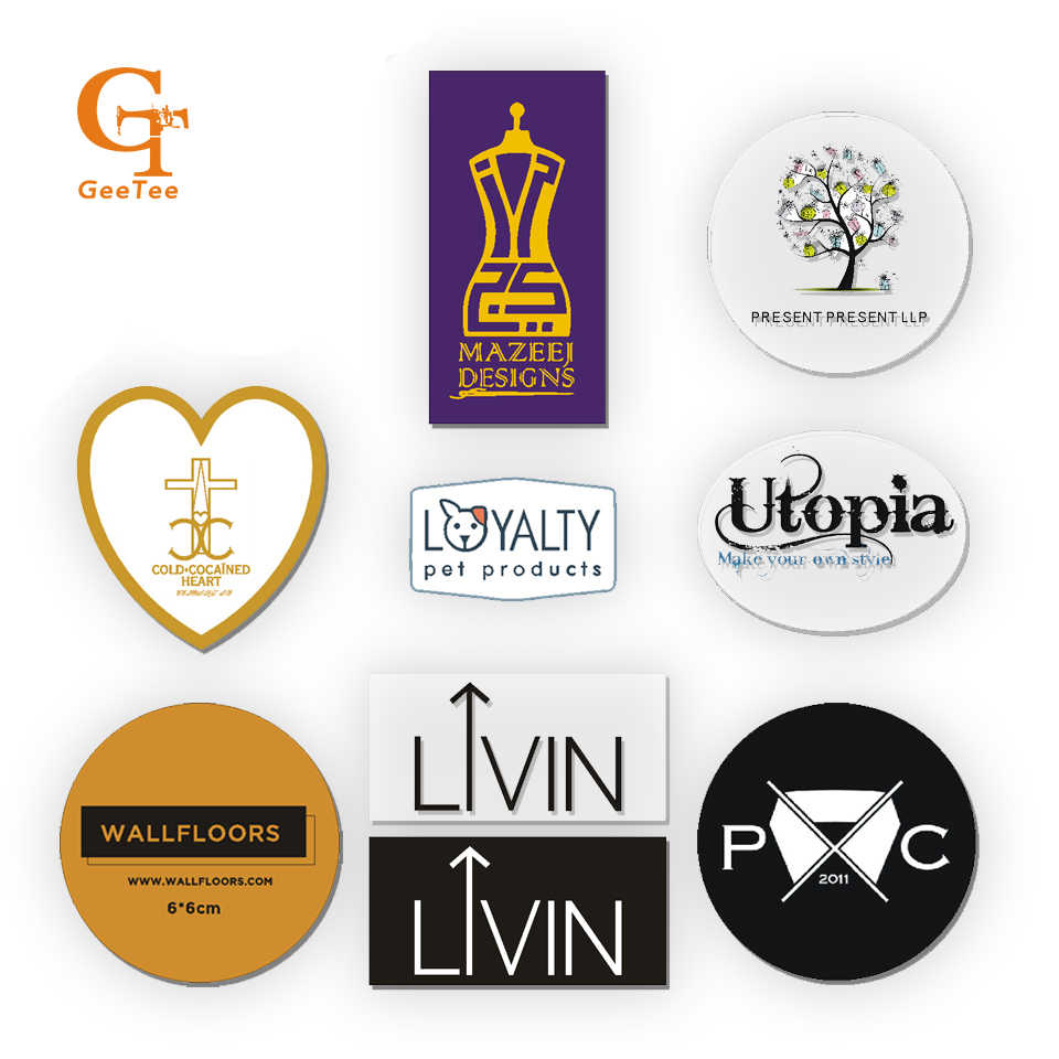 custom logo brand print wedding adesivos stickers labels,plastic PVC Vinyl paper transparent clear adhesive car die-cut sticker