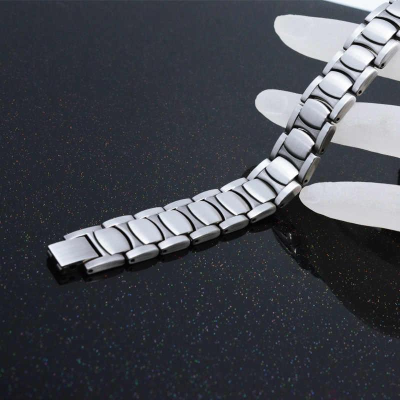 Pulsera antigua de plata para hombre Escalus Health, pulsera magnética de Color para hombre, pulsera magnética de moda, pulseras clásicas de regalo