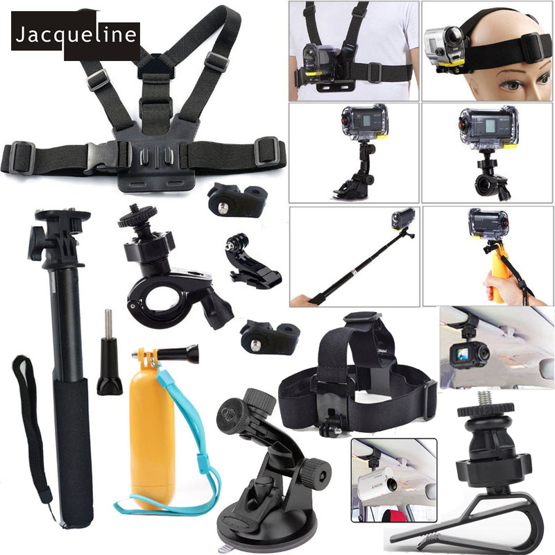Jacqueline for Accessories Kit Set for Sony Action Cam HDR AS20 AS200V AS30V AS15 AS100V AZ1 mini FDR-X1000V/W 4 k Action cam jacqueline for set kit accessories for sony action cam hdr as200v as30v as100v as20 az1 mini fdr x1000v w 4 k for yi action cam