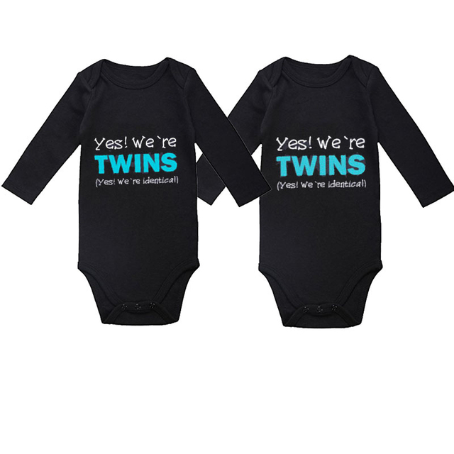 3ccd749f67675 US $12.2 39% OFF|Culbutomind Copy and Paste Set of 2 One Piece Baby  Bodysuit Clothes Clothing for 0 12M Baby Gifts for Twins-in Bodysuits from  Mother ...