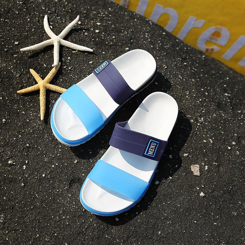 LAISUMK Summer Beach Men Slippers Casual Shoes Double Buckle Man Slip on Flip Flops Flats Camouflage Flip Flop Indoor & Outdoor 85