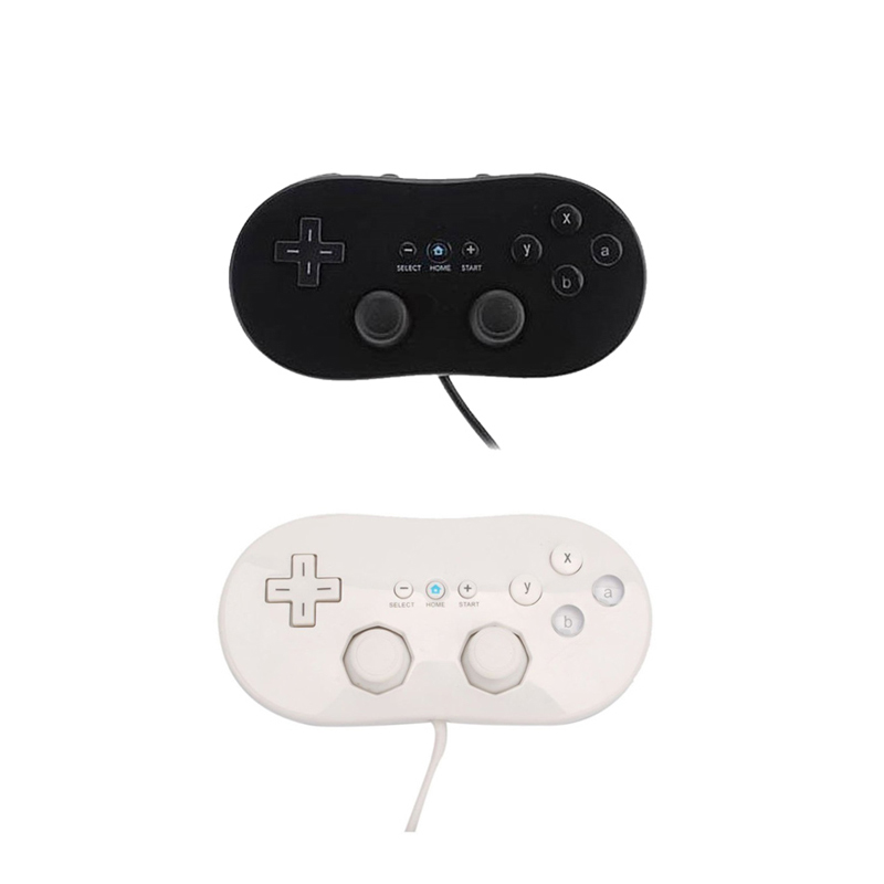 For Wii Mini Classic Controller Pro Black White Gamepad For Wii Remote Accessories Video ...