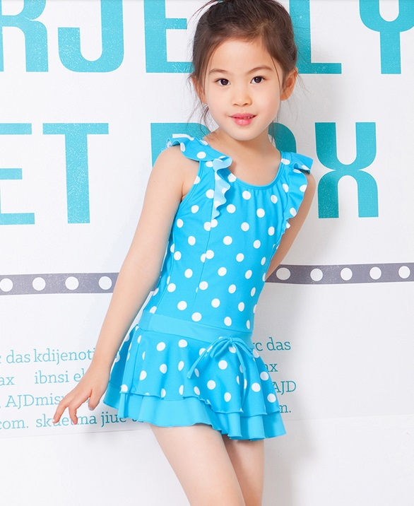 ФОТО 2016 girls girls swimwear swimsuit swimming a polka dot girl style summer child
