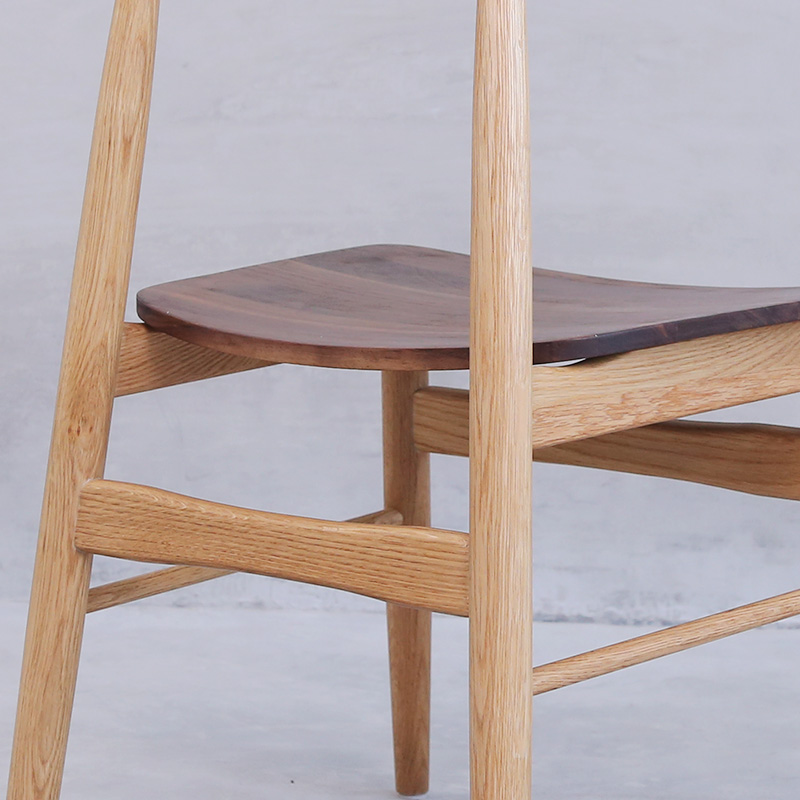 Nordic Chair Black Walnut fight white oak furniture modern minimalist Japanese  wooden wooden chairs near the size of Windsor in Dining Chairs from  Furniture. Nordic Chair Black Walnut fight white oak furniture modern