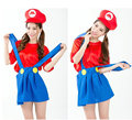Party Decoration Super Mario dress Cosplay Adult Halloween Clothes masquerade costume cos Louis strap skirt female