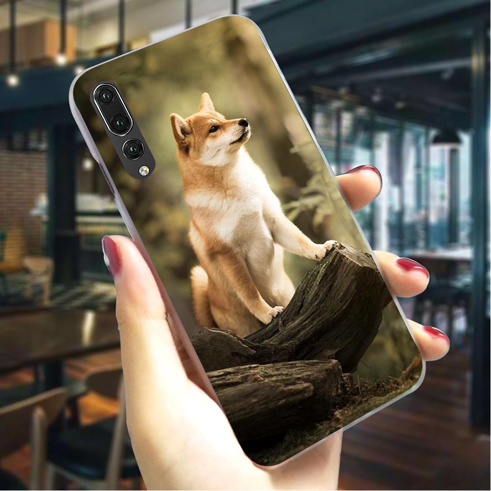 Shepherd Shiba Dog Hard Cover for Huawei Honor 8C Pattern Phone Case for Huawei Back shell in Fitted Cases from Cellphones Telecommunications