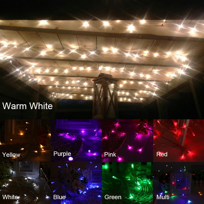 JULELYS 10M 80 Bulbs Garland Battery Powered LED String Lights Christmas Garland LED lightsDecoration For Birthday Holiday Room