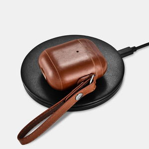 Image 3 - Leather Case For Apple Airpods 2 Airpods 1 Protective Case Vintage Design Headphone Leather Case LED Light Cover