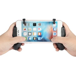 Image 2 - 1 Pair Gaming Trigger Fire Button With Mobile Joysticks PUBG L1R1 Shooter Controller Mobile Gamepad For iPhone Xiaomi