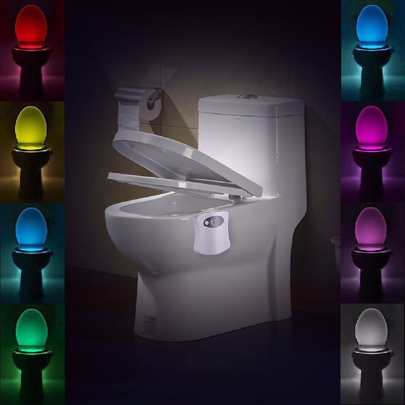 Automatic Change Colors LED Light Night Intelligent Body Motion Sensor Portable Seat Toilet Lamp For Emergency Bathroom A