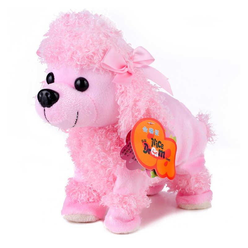 אלקטרוני חיות מחמד שליטת קול רובוט כלבים לנבוח Stand ללכת חמוד אינטראקטיבי צעצועי כלב אלקטרוני האסקי פקינז צעצועים לילדים