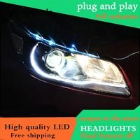 Car Styling For Chevrolet Malibu Headlights 2012 2013 214 LED Headlight DRL Double Beam Lens H7 HID Xenon Low Beam bi xenon lens