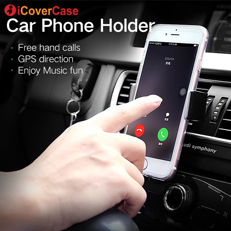 Car Phone Holder For iPhone XS Max XR XS X 8 7 5 5S 5C SE 6 6S Plus Air Vent Mount Holder Stand Universal adjustable Car Holder