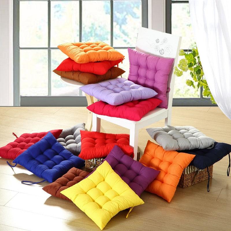 40*40CM Hot Winter Home Office Decor Seat Cushion Solid Color Comfortable Bar Chair Sofa Cushion Buttocks Chair Cushions LXY9