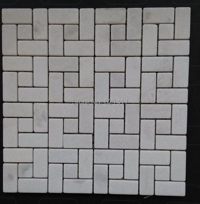 azulejos de la pared de piedra de mrmol blanco mosaico de azulejos de bao azulejos
