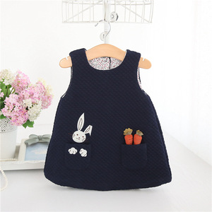 Image 4 - Newborn Autumn Rabbit and Carrot Appliques Baby Girls Infant Dress&clothes Kids Party Birthday Christening Dress 0 2T