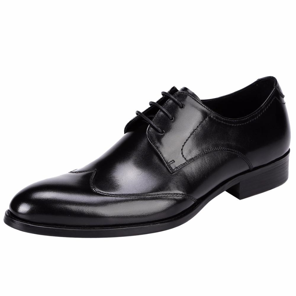 New England Wear Resistant font b Men s b font Genuine Leather Dress font b Shoes