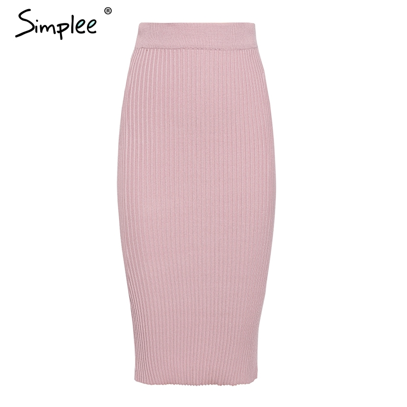 Simplee Sexy v-neck women knitted skirt suits Autumn winter batwing sleeve ladies suit Elegant party female sweater pink dress 13