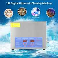 15L Household Digital Ultrasonic Cleaner Stainless Steel Bath 110V 220V Degas Ultrasound Cleaning for Watches Jewelry