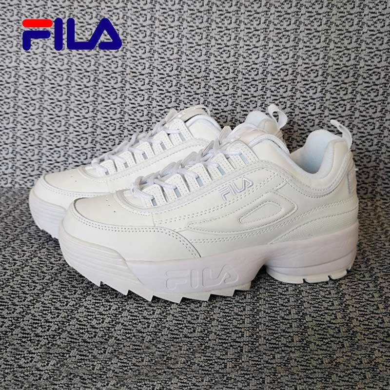 4cfc2ffe US $46.73 |2019 FILA Disruptor II 2 Retro Sneakers Men Women Running Shoes  White Black brown summer Height Increasing Outdoor Sneaker-in Running Shoes  ...