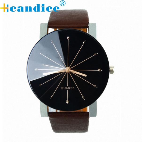 Fashion 2018 Watch Men Luxury Brand Unisex Popular Womens Watches Quartz Stainless Steel Dial Leather Band Wristwatch Clock Gift belbi new luxury watch men stainless steel mesh ultrathin dial casual quartz wristwatch ladies popular fashion banquet clock