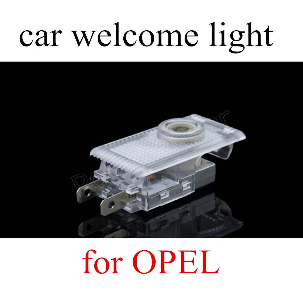 one Pair 12V 3W Auto Logo Emblem Laser Lamp LED Car Door Step Ghost Shadow Welcome Projector Light for Opel Insignia