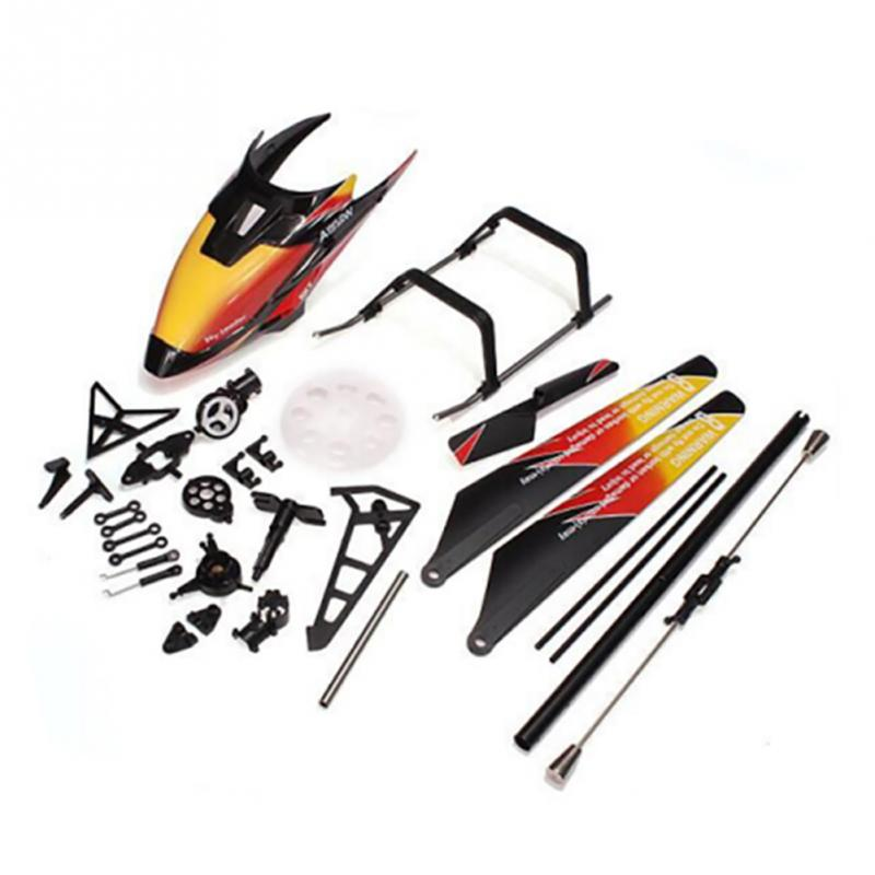 все цены на Spare Parts Accessories Bag propeller balance bar shell tail leaves For V913 RC Helicopter Drone онлайн