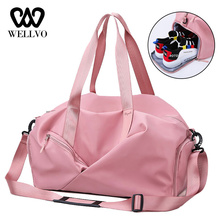Waterproof Dry and wet Separation Travel Bag Women Folding Weekend Bags Large Capacity Bags Duffel Bag Luggage Organizer XA709WB
