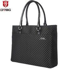 2017 dtbg портфель ноутбук сумка 15.6 дюймов ноутбук сумка женская сумка прекрасный в горошек для девочек Водонепроницаемый компьютерные сумки для Dell Lenovo HP