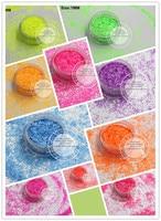 1MM Hexagon Shape Neon Colors Matte Solvent Resistant Glitter Bright Spangles For Nail Polish Nail Art