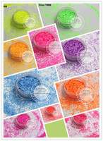 1MM Hexagon Shape Neon Colors Matte Solvent Resistant Glitter Bright Spangles For Nail Polish Nail Art