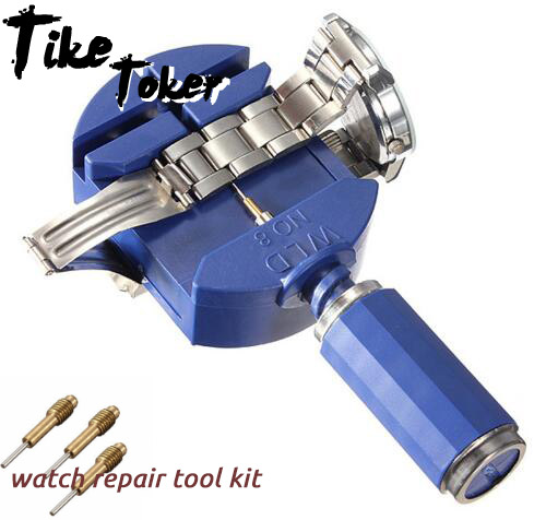 Tike toker,Watch Tools for Watch Repair Clock Watch Strap Tool Band Straps Link Remover with 5 Pins Watch Repair Tool Kit 10