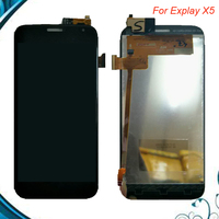 100 Tested OK For Explay X5 LCD Display Screen With Touch Screen Digitizer Assembly Black Color