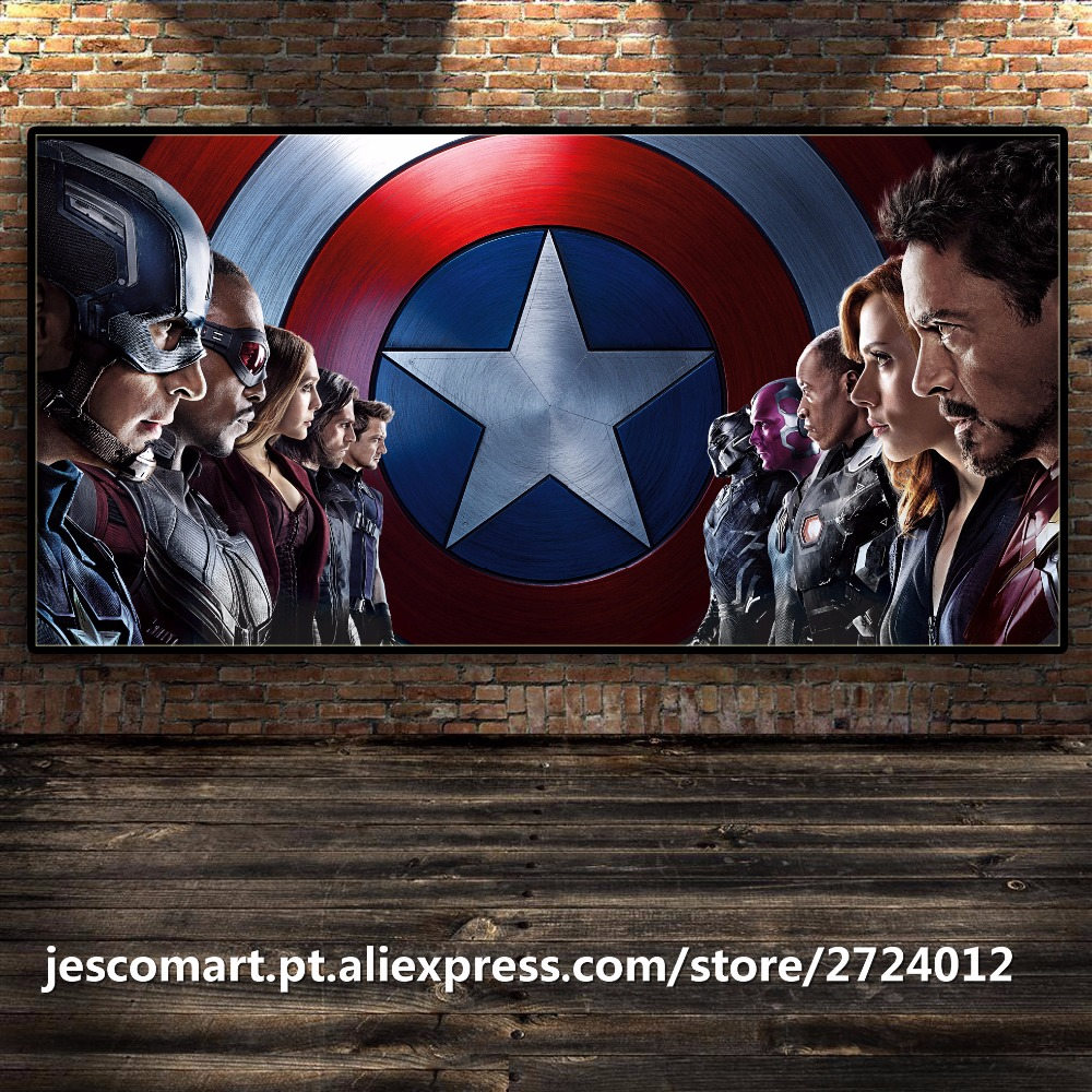 Home Decor Painting Movie Art Captain America MuscleNerd Wall Art For Bar Hotel Room Decor Framed Canvas Painting Ready To Hung