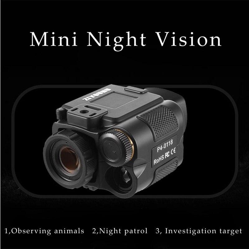 1X18 Mini multifunción IR Digital infrarrojo Monocular día visión nocturna telescopio visión nocturna alcance para cámara de caza de vídeo